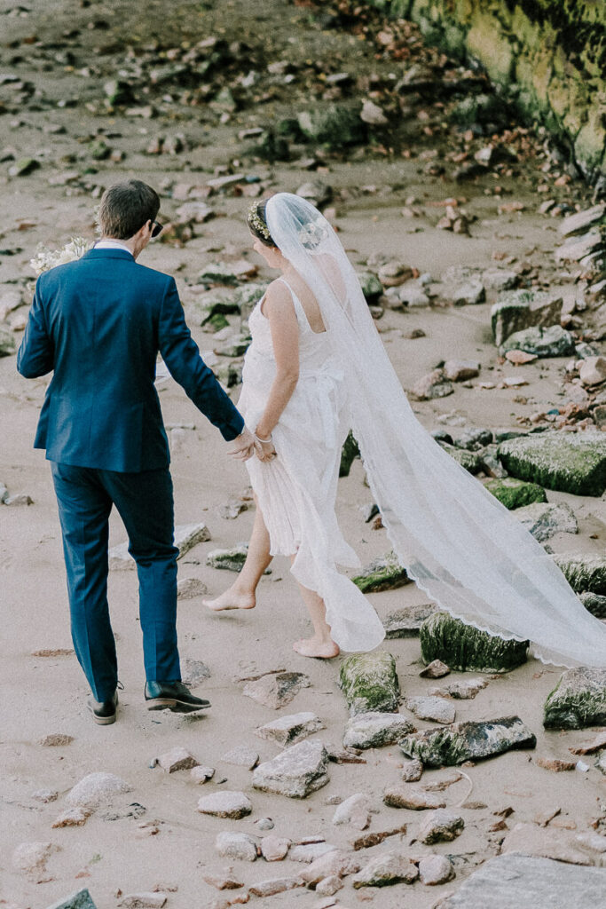 wedding photo on the beach
